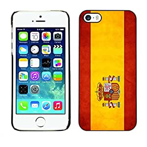 Paccase / SLIM PC / Aliminium Casa Carcasa Funda Case Cover - National Flag Nation Country Spain - Apple Iphone 5 / 5S