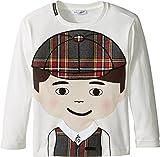 Dolce & Gabbana Kids Boys' Back To School Bimbo Moro T-Shirt (Toddler), White Print, 6 (Little Kids)