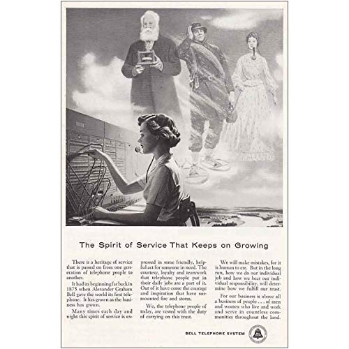 RelicPaper 1956 Bell Telephone: Spirit of Service, Bell Telephone Print Ad (1956 Bell Telephone)