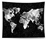 HAOCOO Starry World Map Tapestry,2018 Abstract Painting Wall Art Boho Hippie Wall Hanging Tapestry Home Decor for Bedroom Living Room Dorm Apartment 51''x60''