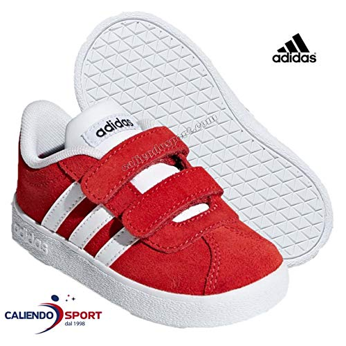 adidas VL Court 2.0 CMF I Sneakers red Suede Shoes