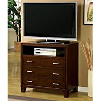 Furniture of America Enlarta Contemporary 3 Drawer Media Chest - Cherry
