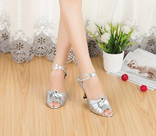Miyoopark - salón mujer Silver-7cm Heel