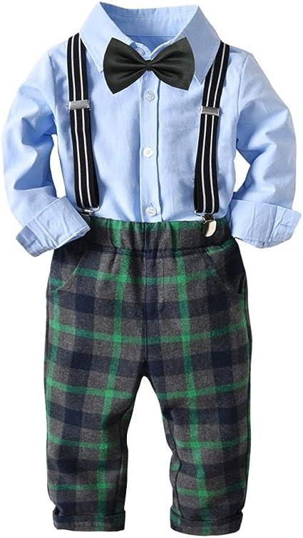 Weentop Kids Boys Gentleman Outfit Camisa de Manga Larga con ...
