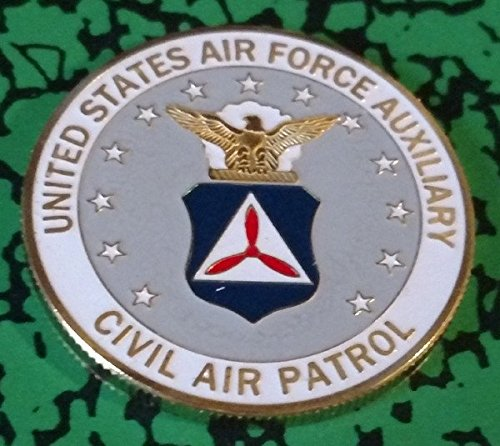 USAF Air Force Auxiliary Civil Air Patrol Colorized Challenge Art Coin