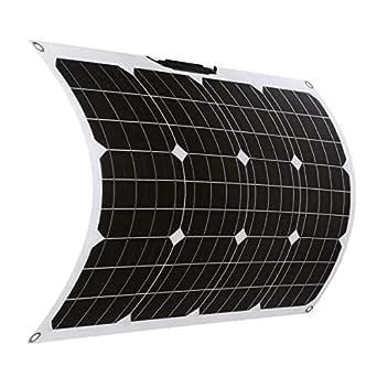 SARONIC 50 W 18 V ETFE flexibel mono solpanel med MC4 för båt, tält, husbil, släpvagn eller andra oregelbundna ytor