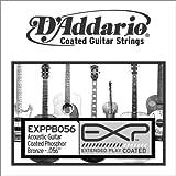 D'Addario EXPPB056 EXP Coated Phosphor Bronze Single String.056