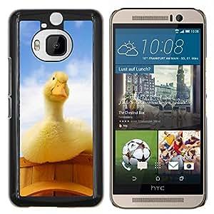 Jordan Colourful Shop - Curious Duck For HTC One M9+ / M9 PLUS Personalizado negro cubierta de la caja de pl????stico