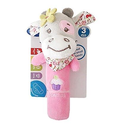DDG EDMMS sonajero bebé ternero peluches para cunas juguete juguete que cuelga, cochecito de bebé de juguete cama de asiento de coche, juguete del ...