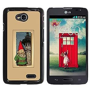 For LG Optimus L70 / LS620 / D325 / MS323 Case , Garden Brown Golden Poster - Diseño Patrón Teléfono Caso Cubierta Case Bumper Duro Protección Case Cover Funda