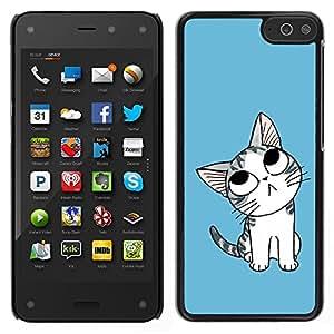 LECELL--Funda protectora / Cubierta / Piel For Amazon Fire Phone -- Gato lindo del Pensamiento --