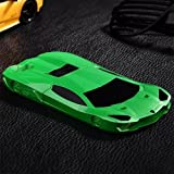 iPhone 6 Case, SwiftBox Cool 3D Sports Car Detachable Hard Case for iPhone 6 4.7 inch + Free HD Screen Protector + SwiftBox Handmade Owl Phone Strap (Green)