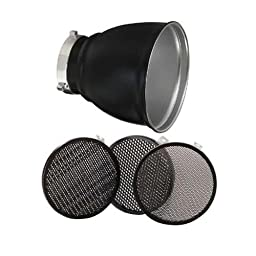 Bowens 60 Degree Grid Reflector with Grid Set for Monolights.
