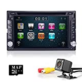 Camera+In-dash Double-din Car Dvd Player with Touch Screen Lcd Monitor Car Stereo GPS Navigation Car DVD for Universal Car