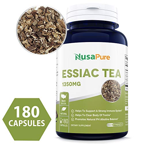 (Best Essiac Tea 1350mg 180caps (Non-GMO & Gluten Free) Supports a Healthy Immune System - Made in USA - 100% Money Back Guarantee!)