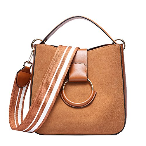 Dissa Q0953 Pockets Brown Handbags Soft Bag Leather Women Shoulder Multiple rrPax