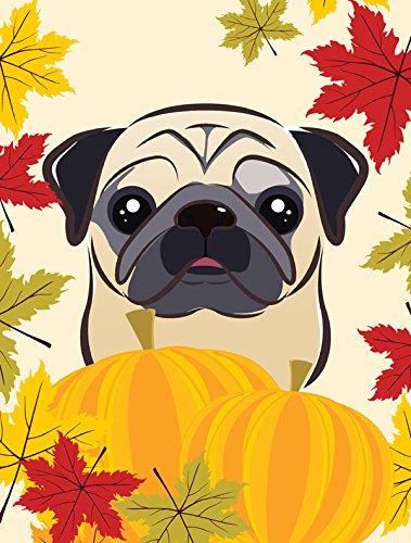Caroline's Treasures BB2068GF Fawn Pug Thanksgiving Garden Flag, Small, Multicolor Review