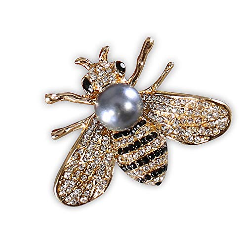 ZUOZUOYA oney Bee Brooch for Women- 3 Colors Insect Themes with Gold,Silver and Colorful Tone Brooch Pins - Fashion Mother of Pearl Brooch Pins - Great for Wife,Sisters,Friends or Daily Wear -