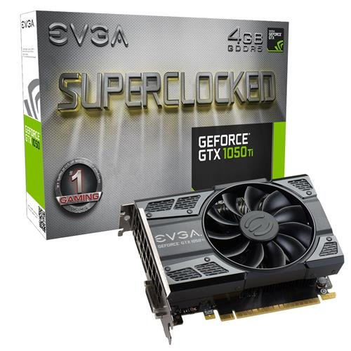 EVGA GeForce GTX 1050 Ti SC GAMING, 4GB GDDR5, DX12 OSD Support (PXOC) Graphics Card 04G-P4-6253-KR by EVGA