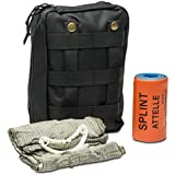 First Aid Kit - Includes Splint & Israeli Bandage - IFAK - Medic & First Responder Kit - Trauma Supplies For Military, Tactical, EMS, Sports & Outdoors, Medic