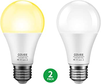 2-Pack Govee 9W Dusk to Dawn LED Light Bulb
