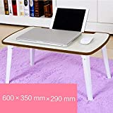 PLLP Table-Simple Foldable Square Legs with Card Slot Laptop Tables Learn Desk,3