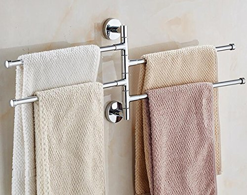 Bekith  Stainless Swivel Bars Towel Rack (4 Arms)