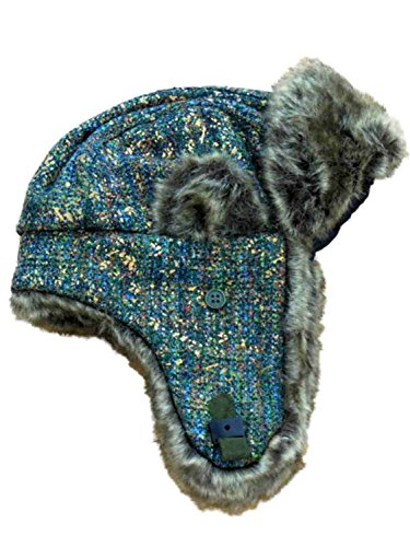 Mudd Women's Green Knit Trapper Style Hat With Faux Fur Lining by Mudd