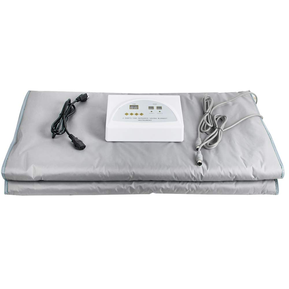 Sauna Blanket with Controller Digital Far-Infrared Heat Blanket with 3 Zone for Helping Weight Lose