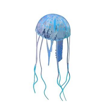 Befaith Efecto Brillante Acuario de pescado de medusas artificiales Decoración de acuario mini ornamento submarino azul 5x15cm: Amazon.es: Hogar
