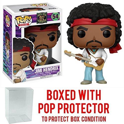 Jimi Hendrix Funko Pop! Rocks: Music Woodstock #54 Vinyl Figure (Bundled with Pop Box Protector CASE)