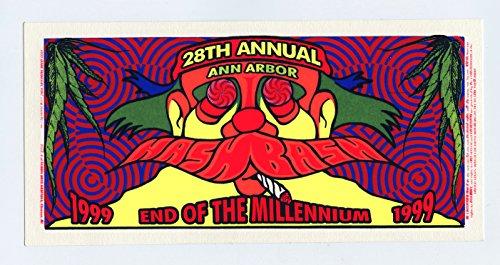 Bash Tickets (Hash Bash Handbill 28th Annual 1999 Ann Arbor Mark Arminski)