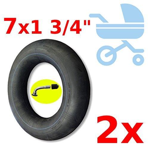 UNIVERSAL 2x INNER TUBE 7 x 1 3/4'' SCOOTER KID STROLLER PUSHCHAIR BUGGY MINI BIKE BENT VALVE TUBES SET FOR TIRE BABY KID CHILDREN CARRIER SEAT INCH ETRTO 47-93