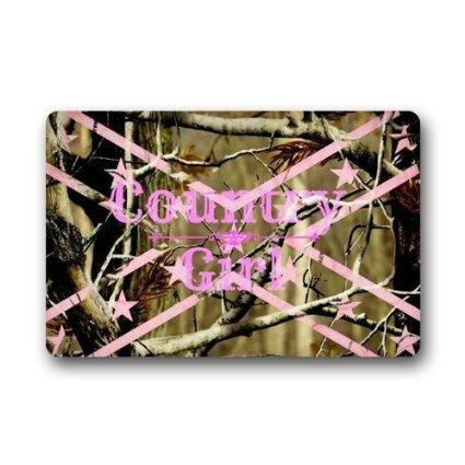 Custom-Welcome-Browning-pink-Country-Girl-flag-Camo-Decorative-Doormat-IndoorOutdoor-Doormat-236-x-157-Non-woven-Fabric-Non-Slip-ShowerFloorBathroom-Mat-Decor
