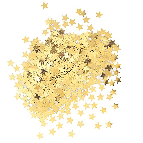 Unique Party 90350 - Confettis Dorés en forme d'Étoile