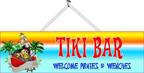 Amazon.com: Piratas de bienvenida & wenches Funny Tiki Bar ...