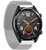 Stainless Steel Replace Mesh Band Strap for Huawei Magic/Watch GT/Ticwatch Pro sliver