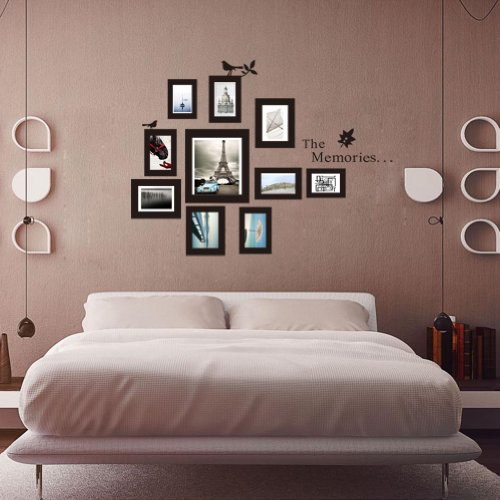the memories quotes wall decor with 10 photo frames wall sticker diy