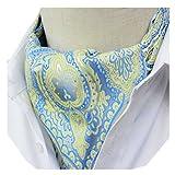 Secdtie Mens Floral 100% Silk Cravat Ties Jacquard Woven Ascot Multiple Colors