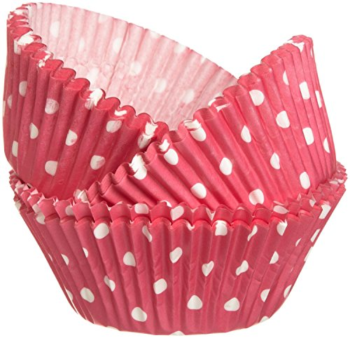Wilton 415-0158 Bake cups Pink Dots (75 Count),