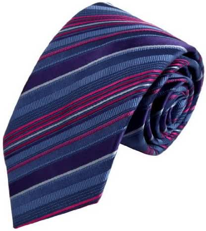 FAA3A2 Designer Stripes Woven Silk Neckwear Perfect Fashion Set By FashionOn