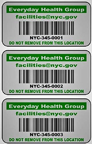 LabelsUrWay Tool and Equipment Asset Tags on Heavy Duty Metalized Polyester with Hi Strength Adhesive (Quantity 2000, Green)