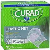 Curad hold tite tubular stretch breathable bandages for leg, medium - 5 yards