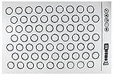 Homankit Silicone Baking Mat for Macarons - Full Sheet Pan 15-3/4