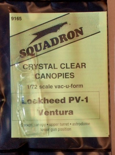 Squadron Products Lockheed PV-1 Ventura Vacuform Canopy - Ventura Canopy