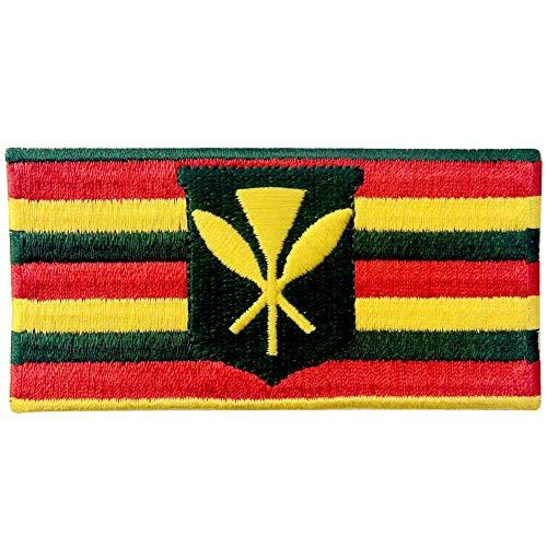- Hawaii Kanaka Maoli State Flag Embroidered Emblem Kamehameha Hawaiian Iron On Sew On Patch