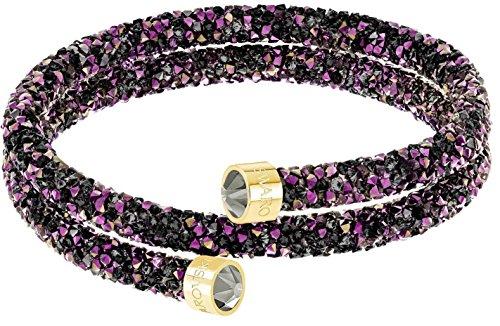 Swarovski Crystaldust Double Bangle - Multi-colored - Gold Plating - Medium - 5379278