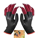 Garden Gloves with 8 Claws Home Gardening Genie Gloves Quick and Easy to Dig and Planting Right and Left Both Have Claws