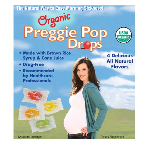 Three Lollies Organic Preggie Pop Drops | Assorted for Morning Sickness Relief |3 Delicious Flavors | Sour Raspberry | Sour Lemon | Green Apple |12 Drops Per Box (Best Foods To Eat During Chemotherapy)
