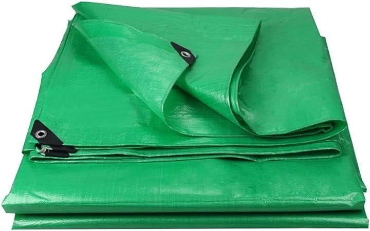Lona De Tela Verde, Tejido De Lona Resistente De Alta Densidad, Cubierta De Suelo Reforzada Con Lona Impermeable Con Ojales, Para Muebles De Jardín, Coche De Barbacoa, Piscina, Techo, 180G / ㎡: